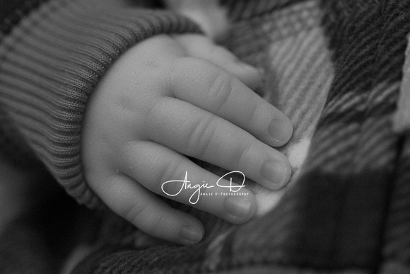 Baby Damien's tiny little fingers. Photo by Oregon City Photographer Angie D-Photography.