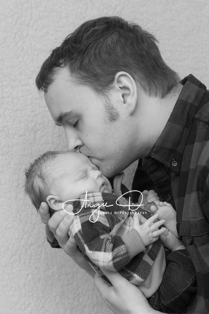 Photo of baby Damien with his Daddy by Angie D-Photography.