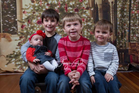 Hatton kids Christmas Portrait